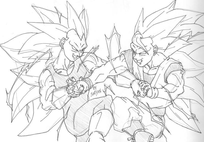 Imagenes Para Colorear De Goku Super Sayayin: Goku Super Saiyajin Para Colorir